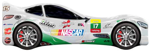 Кроватка-машинка NASCAR