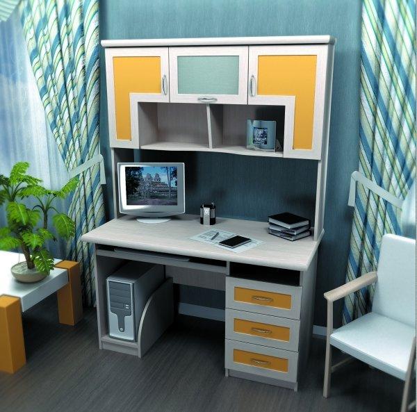 Стол для компьютера с надстройкой омега-3, арт. 2328 - купит.
